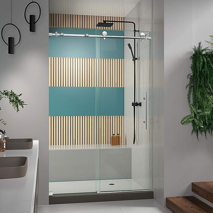 Dreamline enigma-x 44 a 48 en. Totalmente sin marco puerta corredera de ducha: Amazon.es: Bricolaje y herramientas