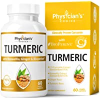 60-Count Physician's Choice Organic Turmeric Curcumin C3 Complex Joint Supplement