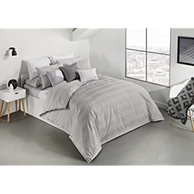 Lacoste Sideline Duvet Set, Full/Queen, Grey