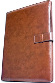 professional leather business resume portfolio folder interview padfolio with refillable letter size writing pad by