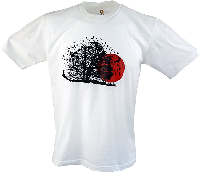 Guru-Shop, Camiseta de la Diversión `Vogelflug`, Algodón, Camisetas Impresas: Amazon.es: Ropa y accesorios