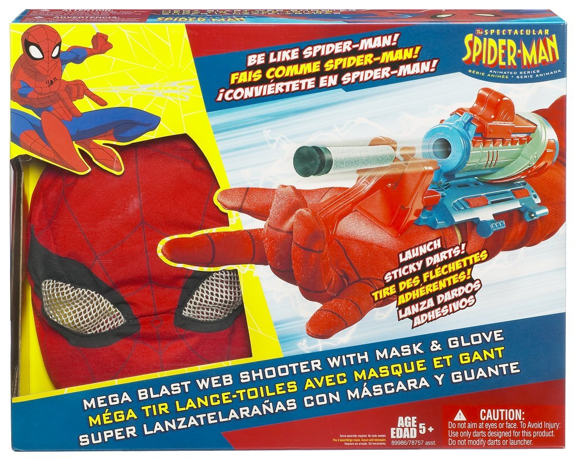 Amazon.com: Hasbro Spider-Man 3 Deluxe Spinning Web Blaster: Toys & Games