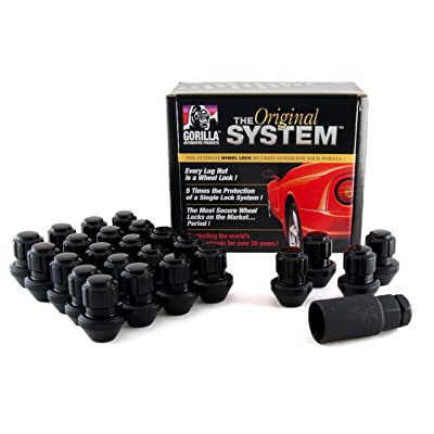 Gorilla Automotive 96644BDX Black Factory Style Wheel Lock System (14mm x 1.50 Thread Size, 24-Pack): Automotive