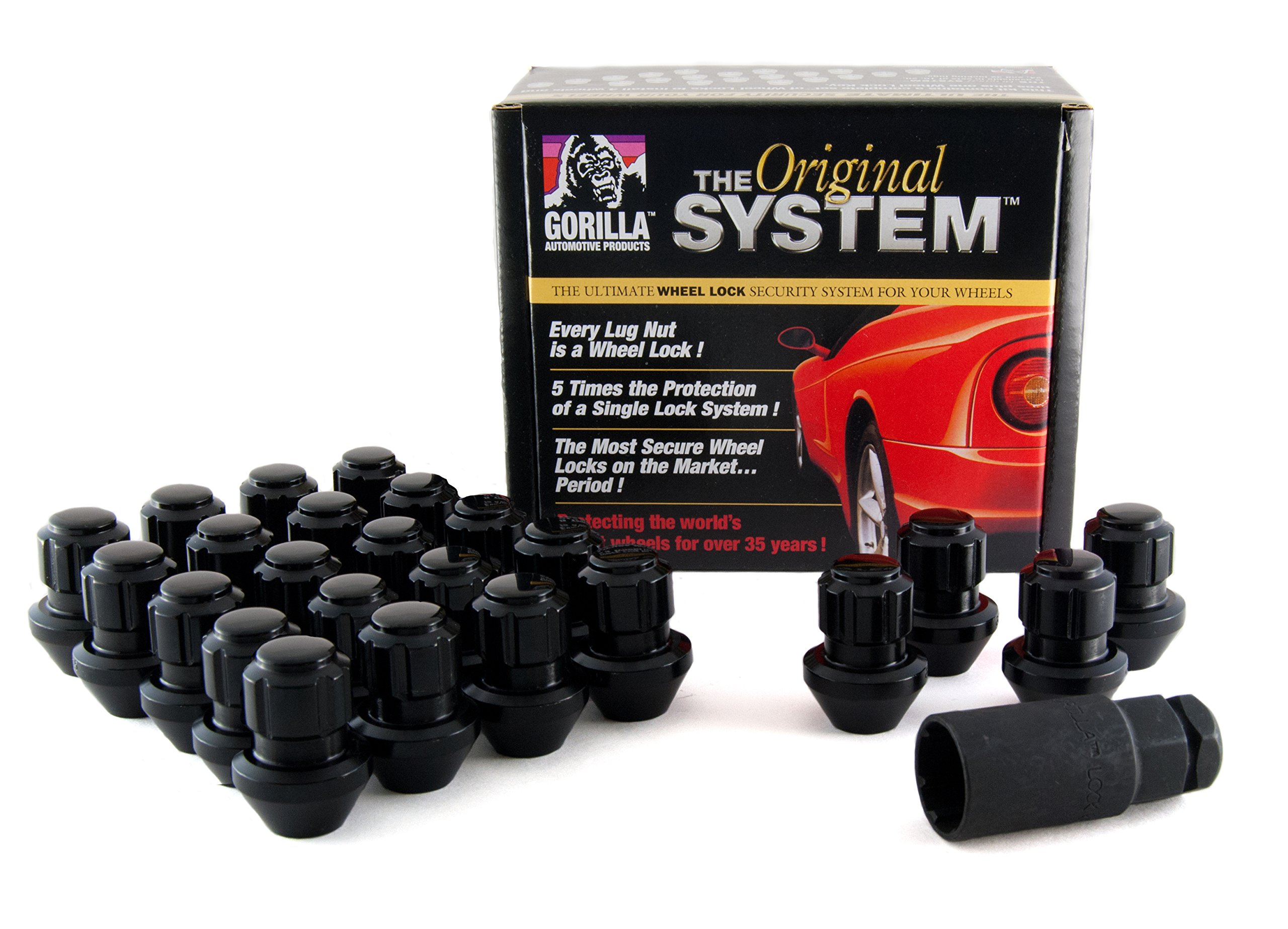 Gorilla Automotive 96644BDX Black Factory Style Wheel Lock System (14mm x 1.50 Thread Size, 24-Pack)