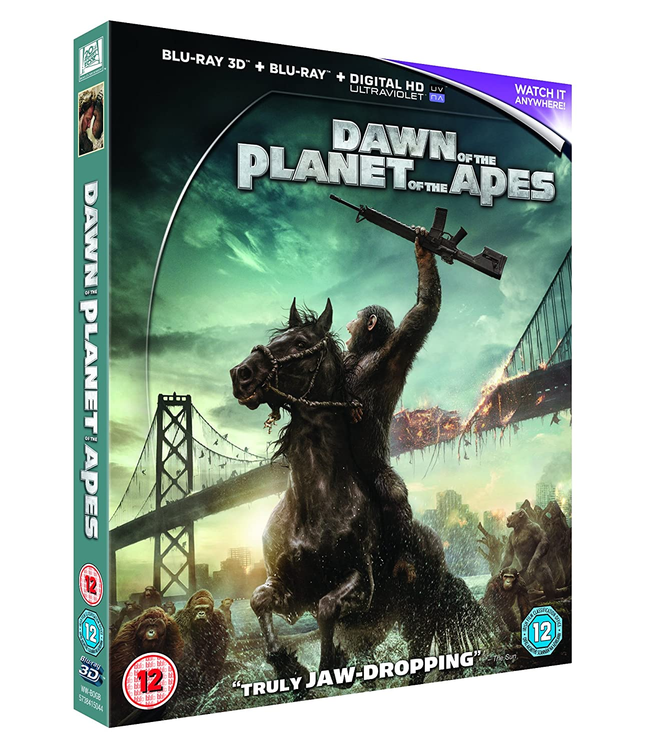 Amazon.com: Dawn of the Planet of the Apes [Blu-ray 3D + Blu-ray ...