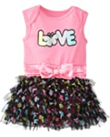 Baby Glam Baby Girls' Skirted Creeper Dress with Attached 5 Layer Skirt