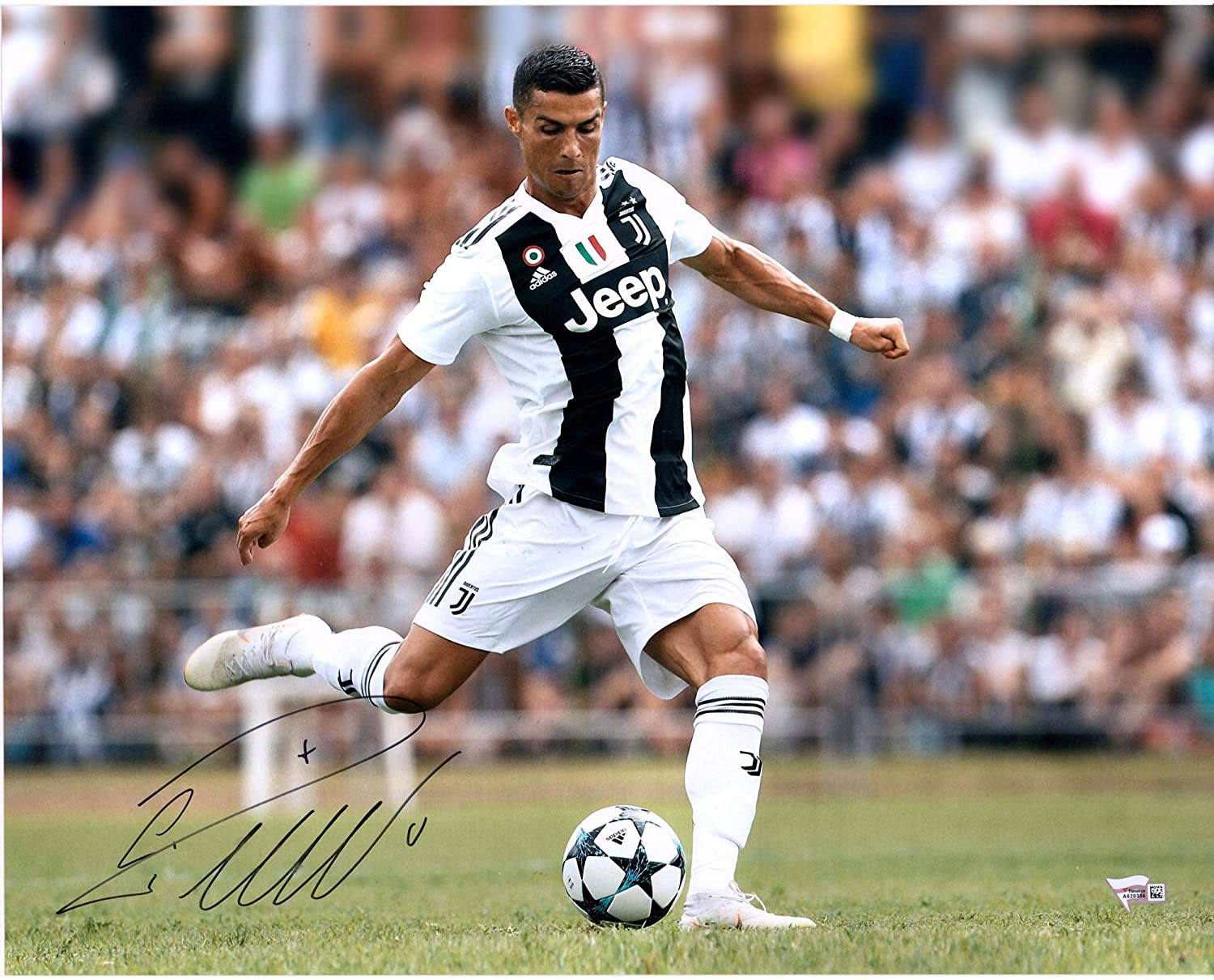 Cristiano Ronaldo Juventus F C Autographed 16 X 20 Kicking Photograph Autographed Soccer Photos At Amazon S Sports Collectibles Store