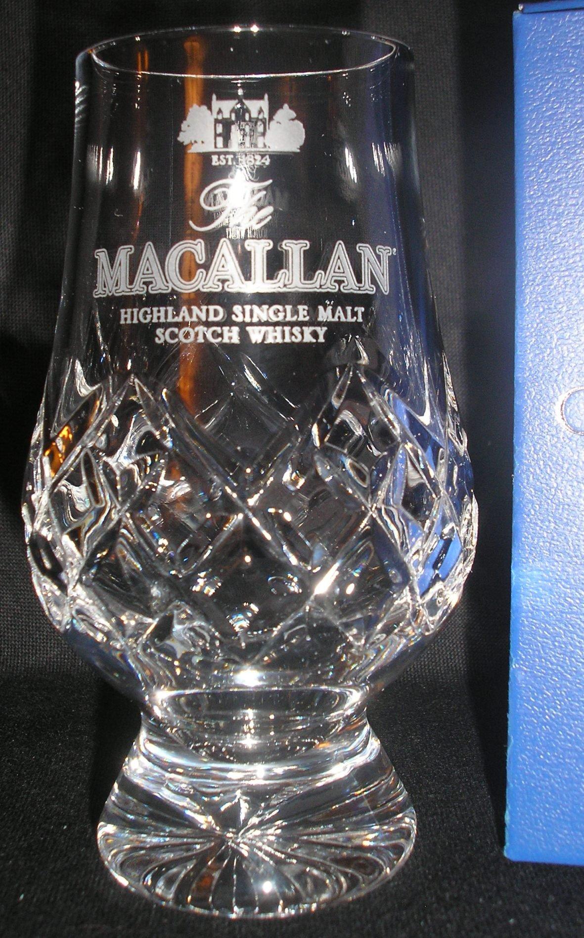 THE MACALLAN OFFICIAL GLENCAIRN CUT CRYSTAL SCOTCH MALT WHISKY TASTING GLASS