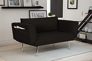 Groovy Novogratz Leyla Loveseat Black Gmtry Best Dining Table And Chair Ideas Images Gmtryco