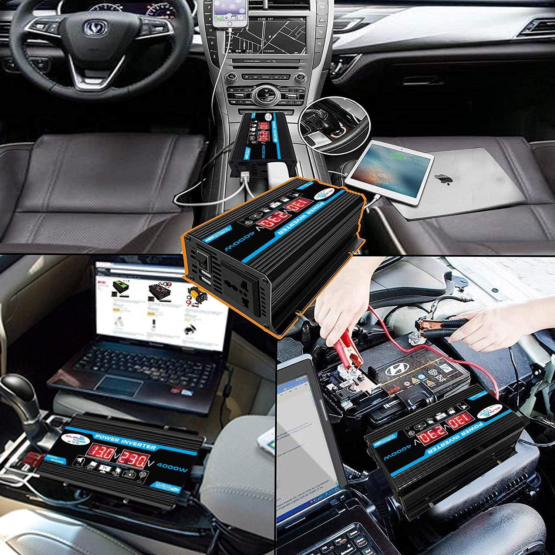 Bedler Inverter Onda sinusoidale modificata Ad Alta frequenza 4000 W Potenza di Picco Watt Inverter di Potenza Convertitore da CC 12V a CA 220 V Convertitore di Carica per Auto Inverter con Porta USB
