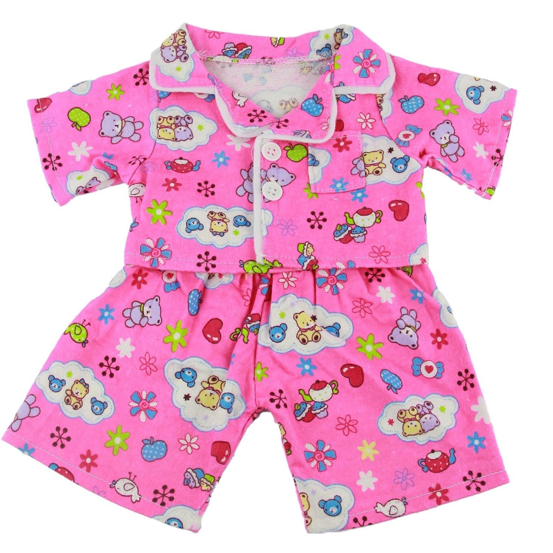 Rosa Carino Teddy Pigiami Completo Teddy Bear Clothes per 38, 1-40, 6 cm (40cm) Orsetti & Build a Orso 3053