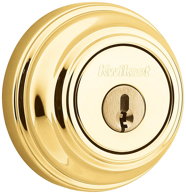 KWIKSET デットボルト クイックセット玄関ドア用 ポリッシュブラス(LO3) 3KEY B001CZWWX0