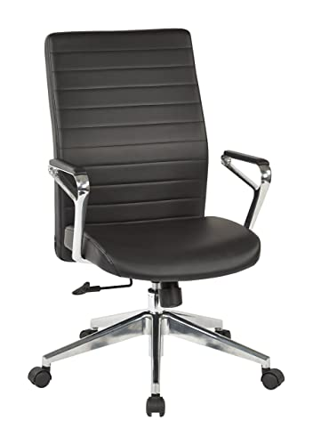 Office Star Bonded Leather Seat and Back