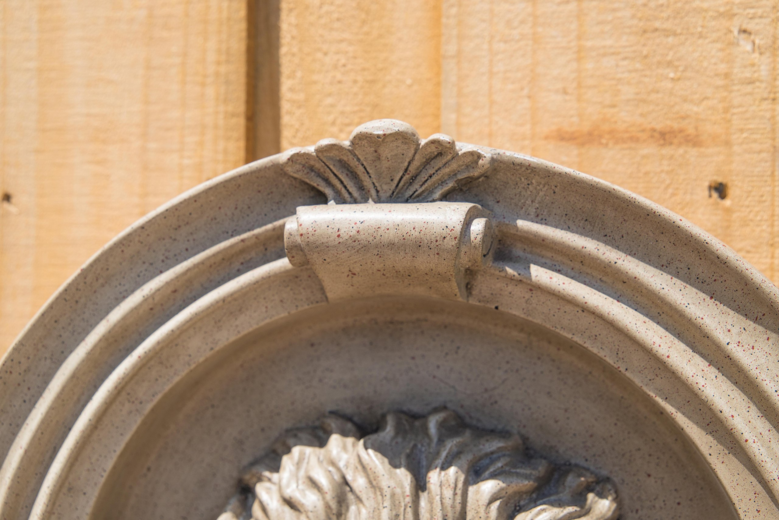 Kenroy Home 51043SNDST Royal Wall Fountain with Light, Sandstone Finish by Kenroy Home (Image #3)