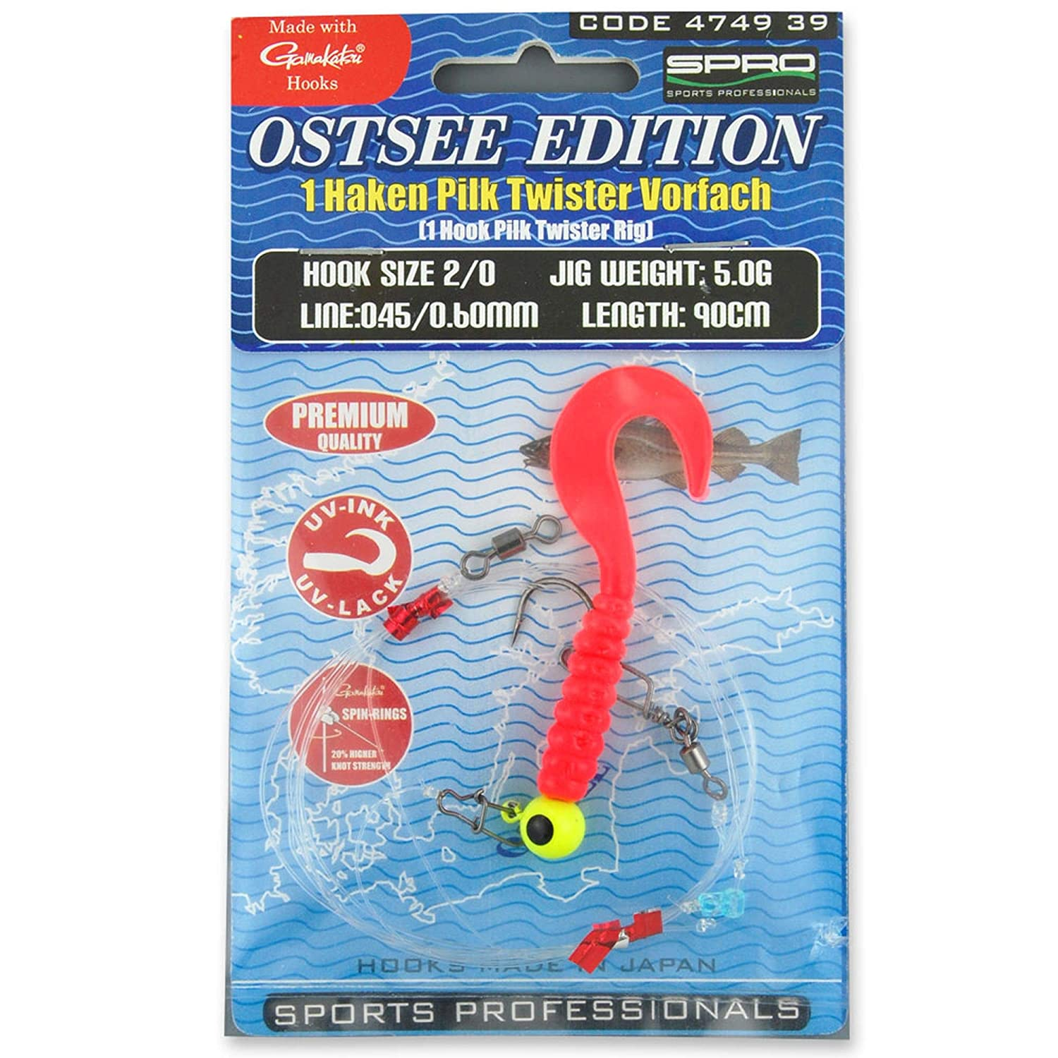 Spro/Ostsee Edition Pilk Twister Rig 90//5