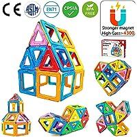 Jasonwell 42Pcs Magnetic Tiles Building Blocks Set for Boys Girls Preschool Educational Construction Kit Magnet Stacking…