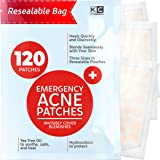Acne Patches (120 Pack), Hydrocolloid Acne Patch with Tea Tree Oil - Pimple Patches for Face - Zit Patch and Pimple Stickers