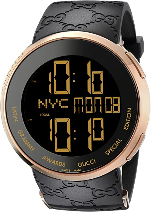 ca49d4011cb Gucci I-Gucci Latin Grammy Special Edition Black Mens  Watch(Model YA114222