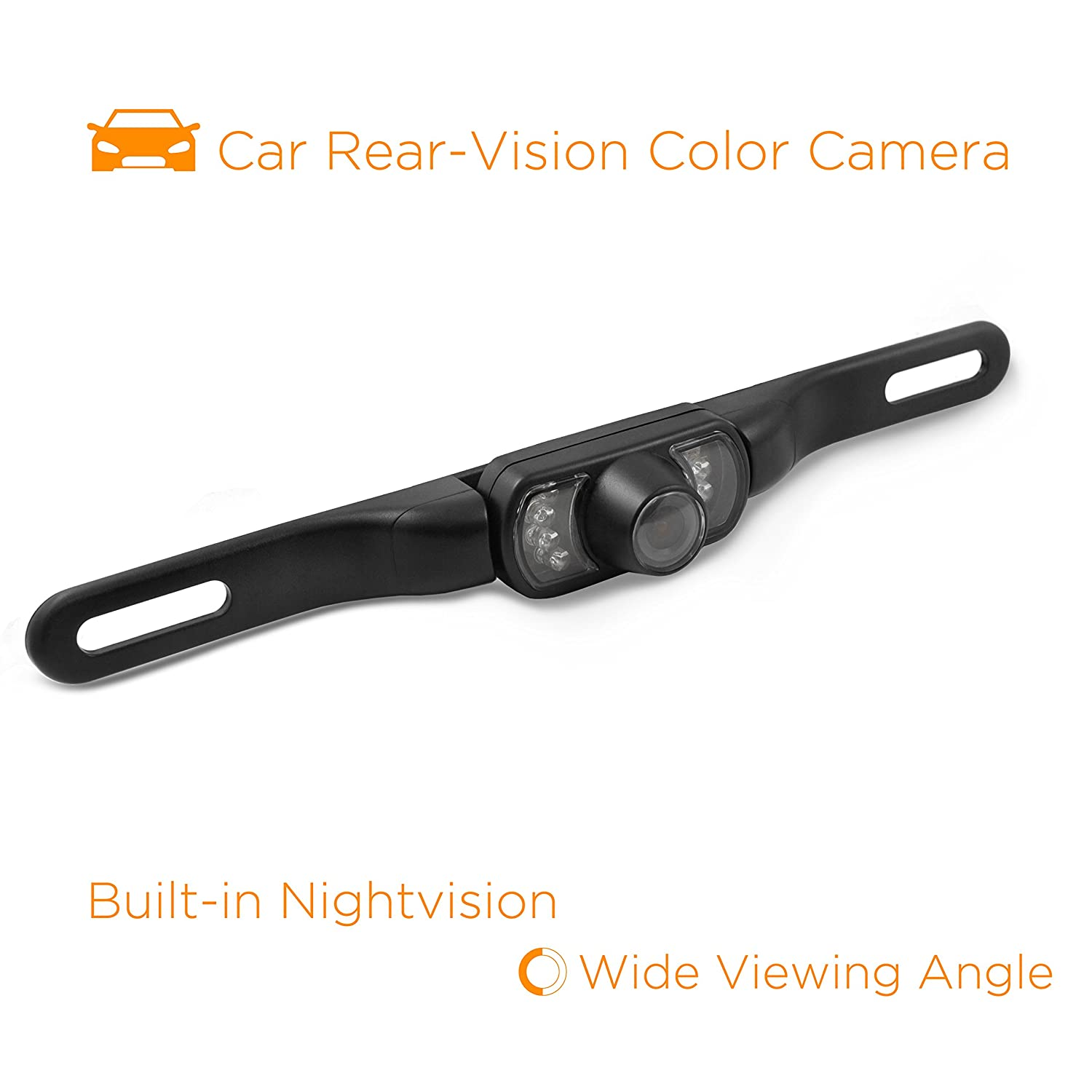 XOVISION HTC36 Flush-Mount Backup Camera with Night Vision and 170deg Wide-Angle View