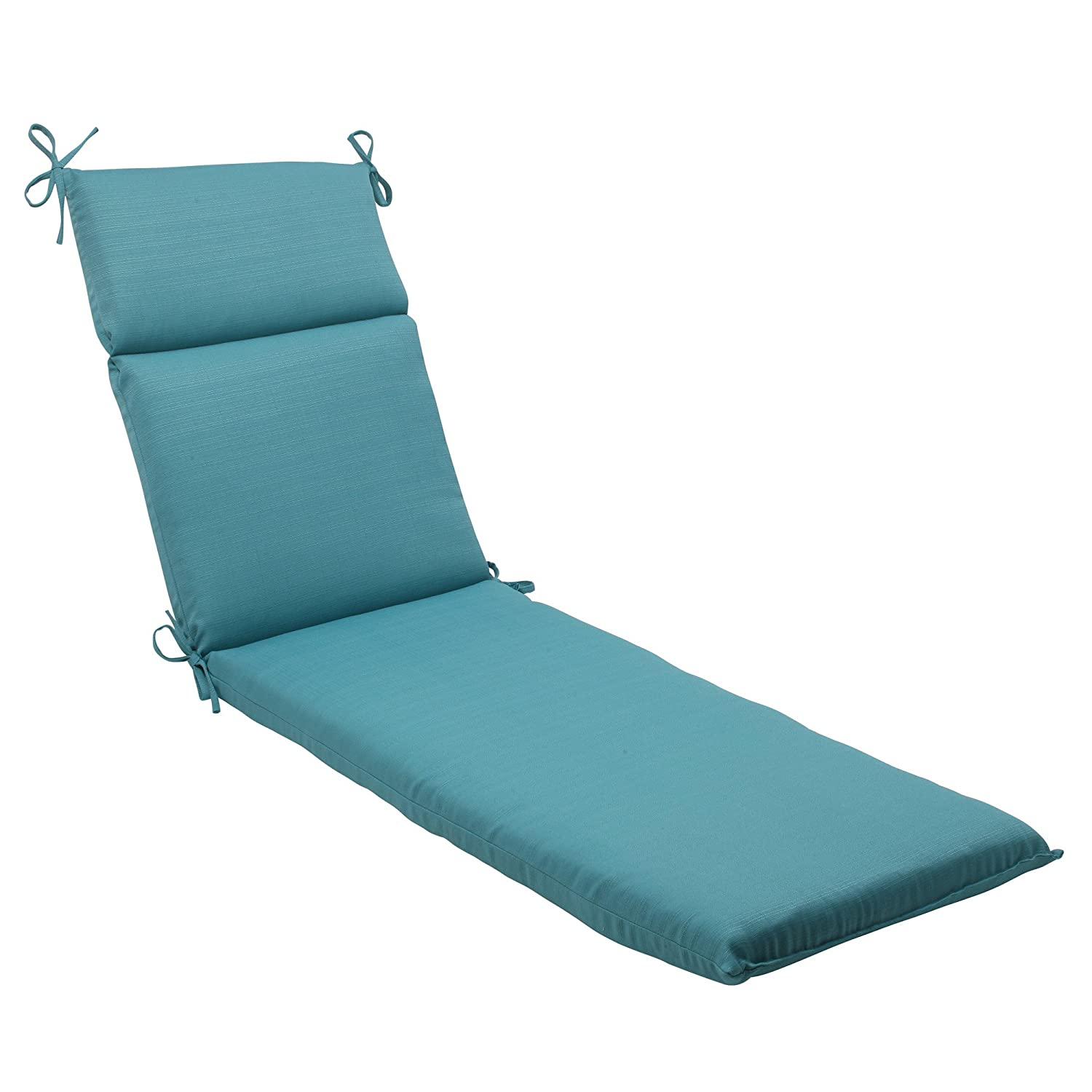 Pillow Perfect Indoor/Outdoor Forsyth Chaise Lounge Cushion, Turquoise