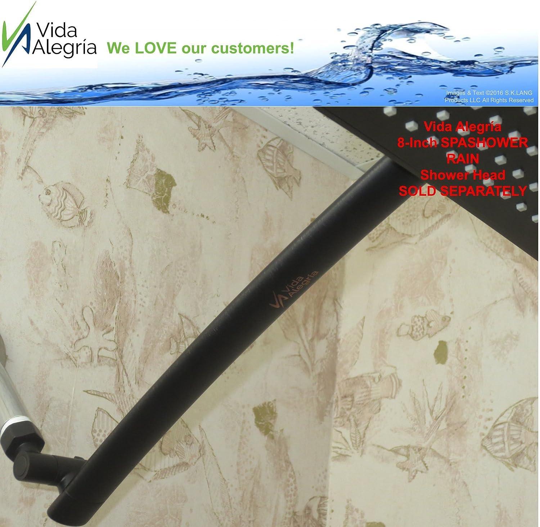 S.K.LANG Products VA-REACH-CH Chrome Vida Alegr/ía REACH Solid Brass 18-Inch Shower Head Extension Arm