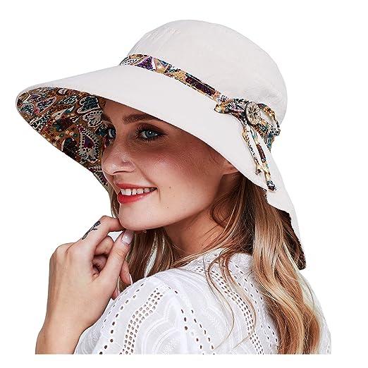 ed26cb13694d4d HAPEE Womens Sun Hat, Both Sides wear, UPF 50+ Beach Garden Hat ...