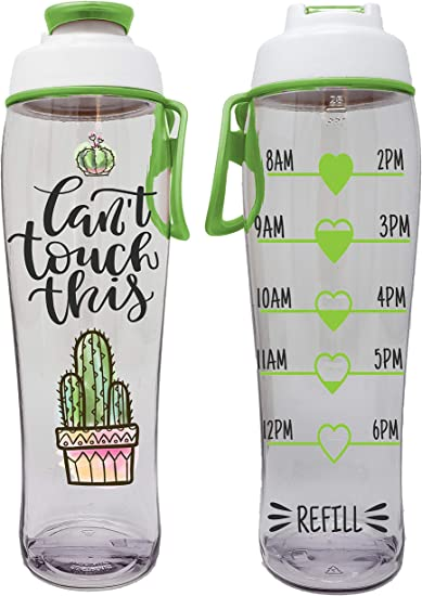 Plastic Water Bottle With Straw Sport Workout Motivational Portable Bottles 550