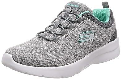 5792319a Skechers Dynamight 2.0 in a Flash Womens Slip On Sneakers Gray/Mint 5