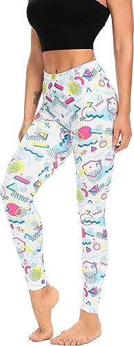 MIAIULIA Multi Color Animal Print Bright Leggings 1980s Pants Zebra Cheetah Costume