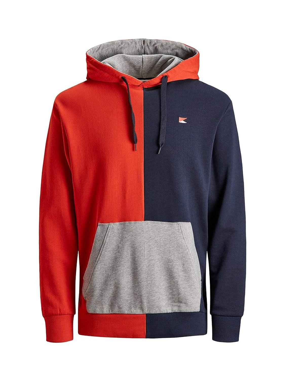 aeecc810b52 Jack   Jones Originals Hoodie Mens Colour Block Oversize Pullover Sweater  Jumper 12147767  Amazon.co.uk  Clothing