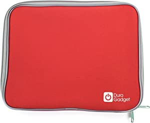 DURAGADGET Red Soft Neoprene Protective Pouch - Compatible with Sony Xperia Tablet S/Acer Iconia Tab A510 10.1 inch Olympic Edition & Storage Options 55111 Scroll Extreme II 2 9.7-inch Tablets