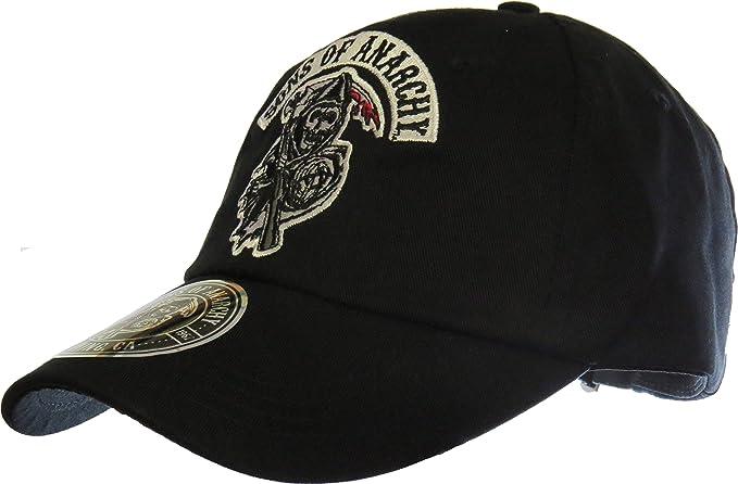 Sons of Anarchy CODI - Cap reversibles Dead Logo Negro: Amazon.es ...