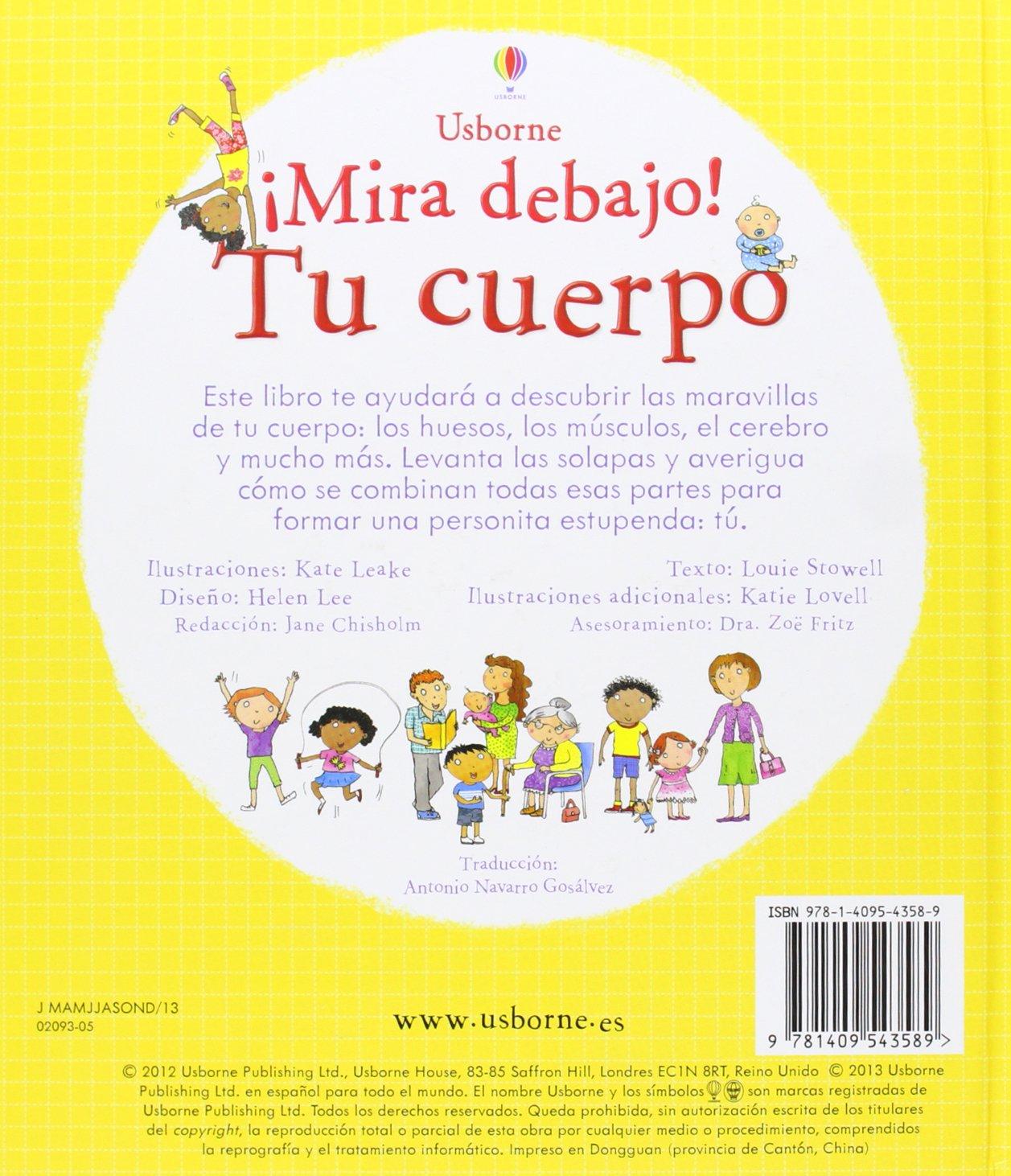 TU CUERPO MIRA DEBAJO: USBORNE PUBLISHING: 9781409543589: Amazon.com: Books
