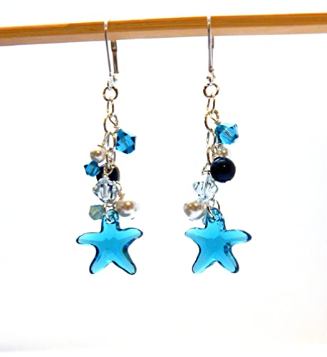 Amazon crystal starfish earrings swarovski starfish pendant crystal starfish earrings swarovski starfish pendantbeach jewelry mermaid earrings boho chic aloadofball Gallery