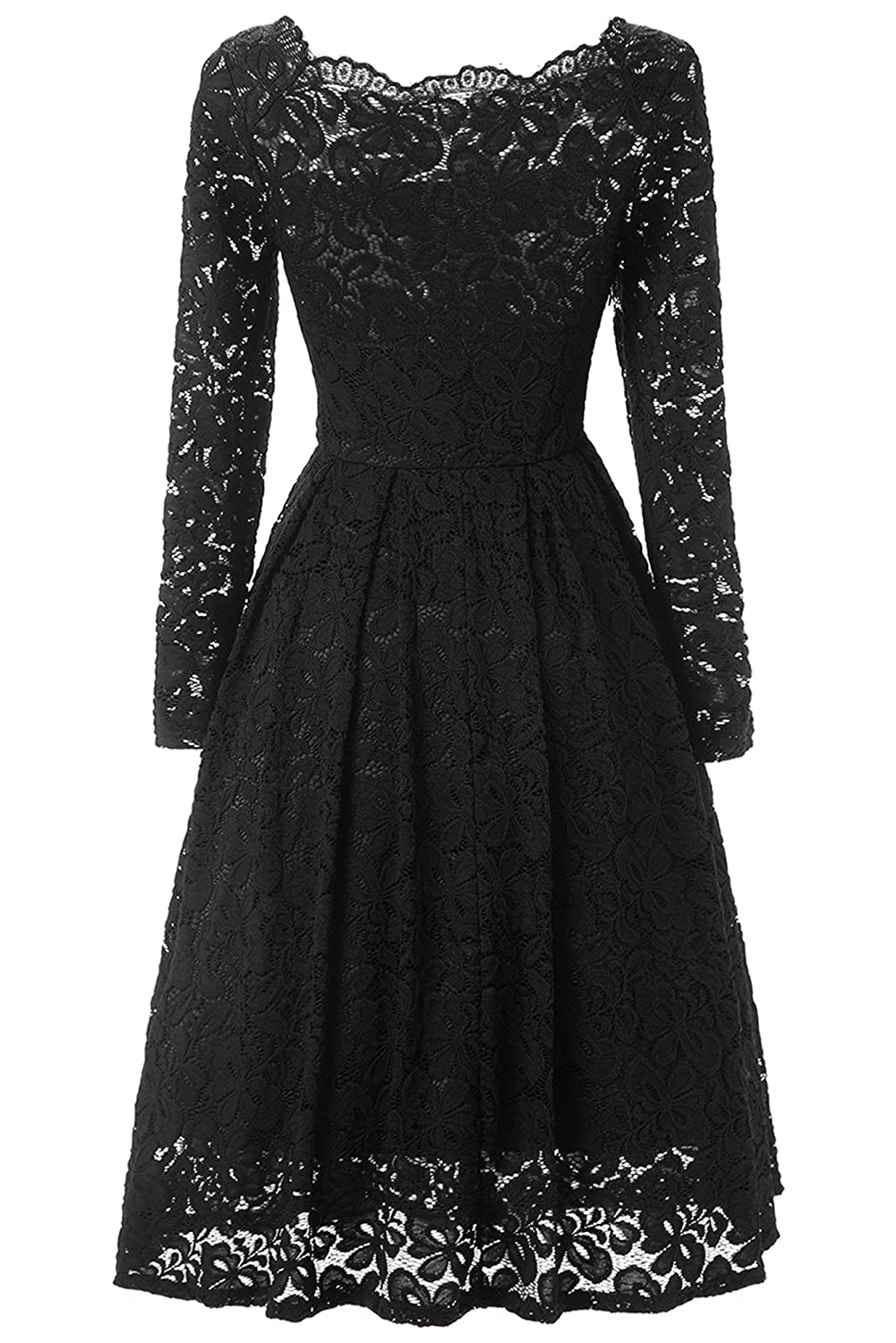 JH DRESS Short Lace Prom Retro Cocktail Dresses Long Sleeves Cheap Wedding Dresses for Women 50s Vintage Floral at Amazon Womens Clothing store: