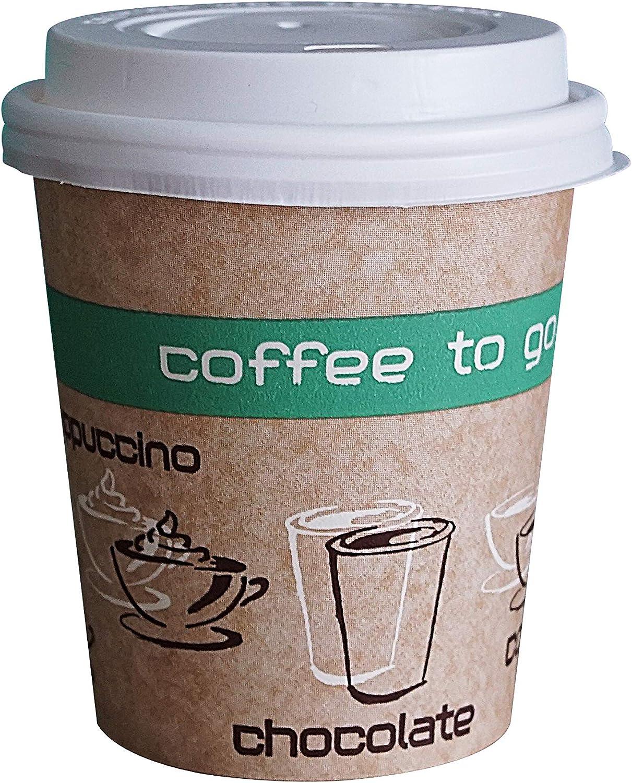 R/ésistant /à la chaleur Lot de 200 gobelets /à Coffee to go Gobelet en carton Coffee to go haut 200 ml