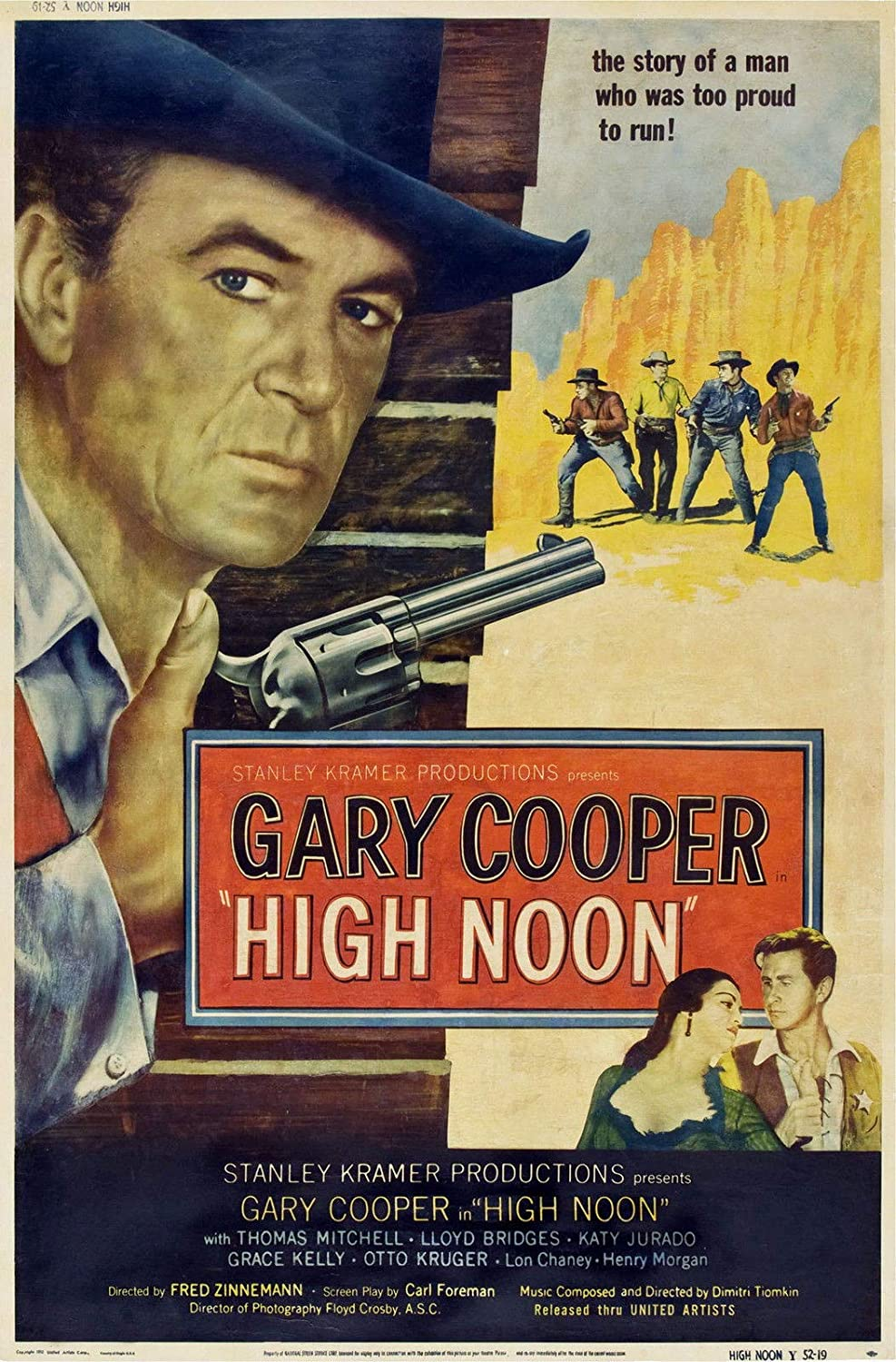 73036 HIGH NOON Movie 1952 Western Gary Cooper Decor Wall 36x24 Poster Print