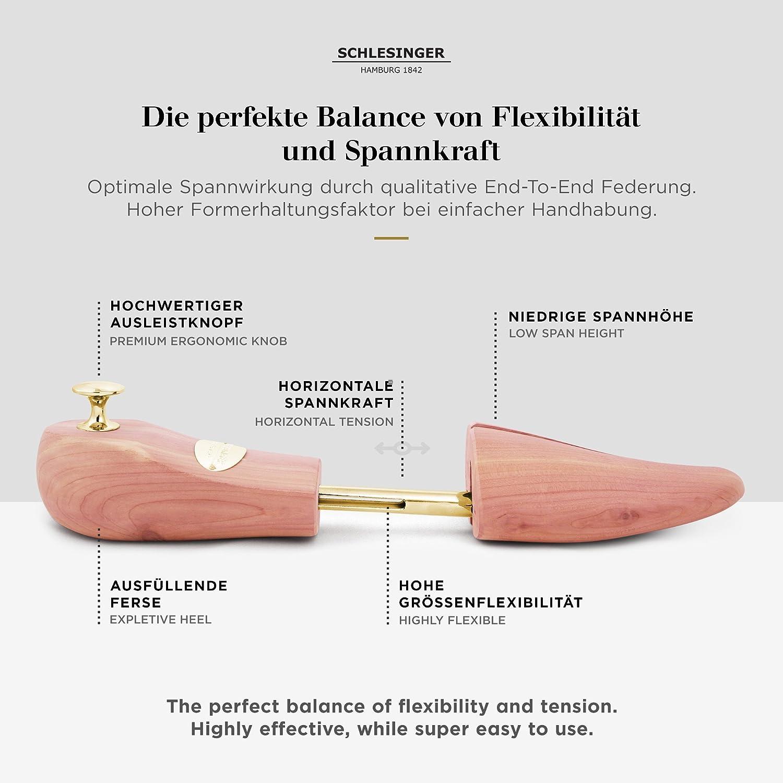 Schlesinger Modell K/önig Gr/ö/ße 39 4 Paar Premium Herren Schuhspanner aus edlem Zedernholz f/ür Lederschuhe und Sneaker 48 in Silber oder Gold.