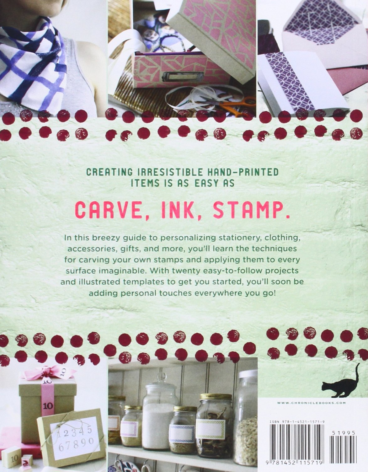 Put Your Stamp on It: 20 Adorable Projects, Plus Instructions for Hand-Carving Beautiful Stamps by Chronicle Books (Image #2)