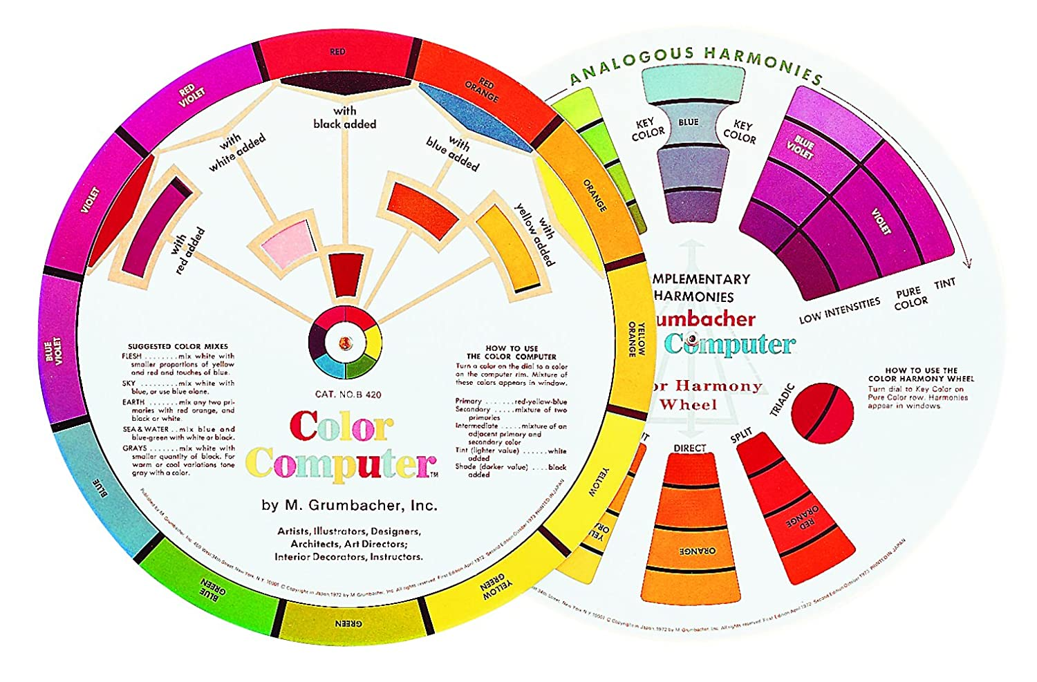 Color circle art publishing - Amazon Com Grumbacher Computer Color Wheel 8 Dia Arts Crafts Sewing