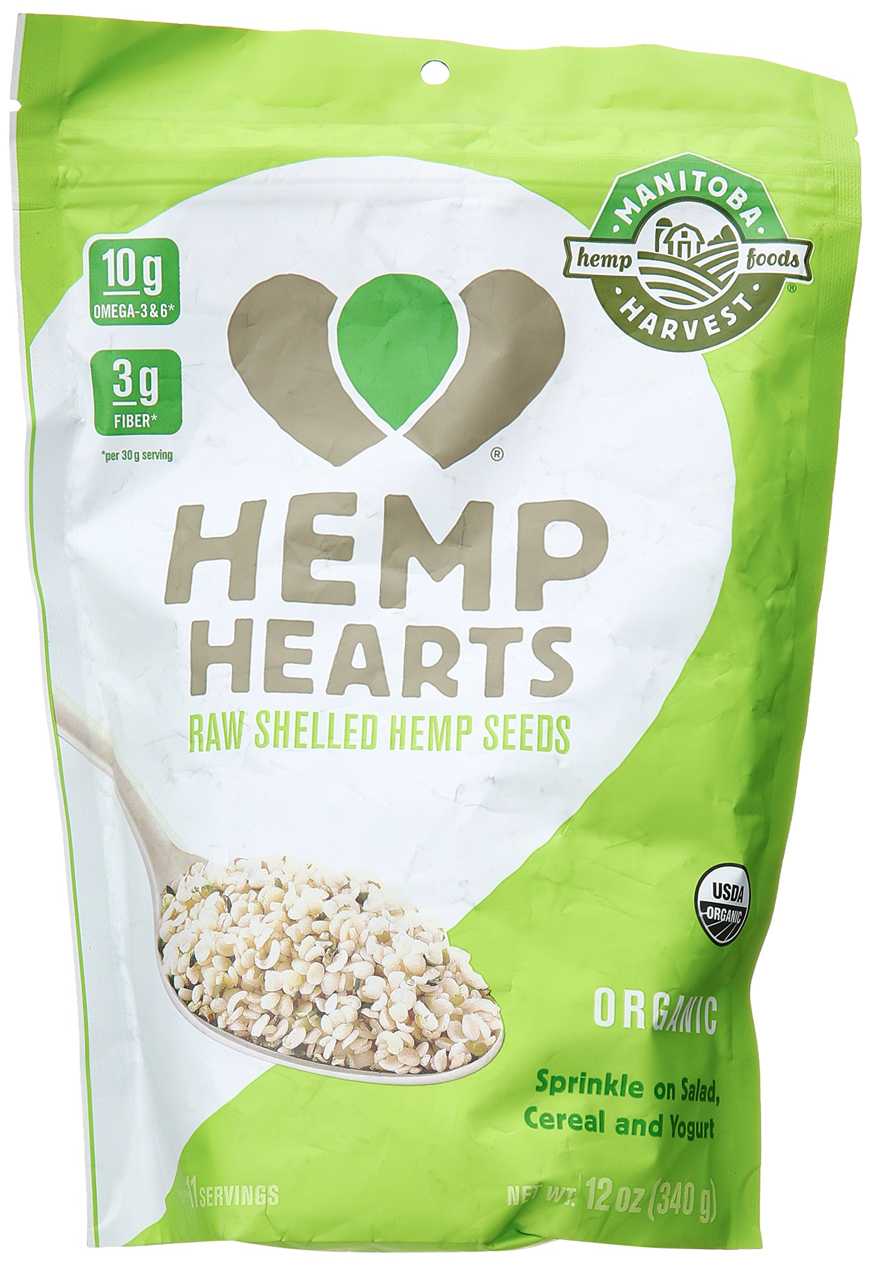 Manitoba Harvest Organic Hemp Hearts, 12 Ounce