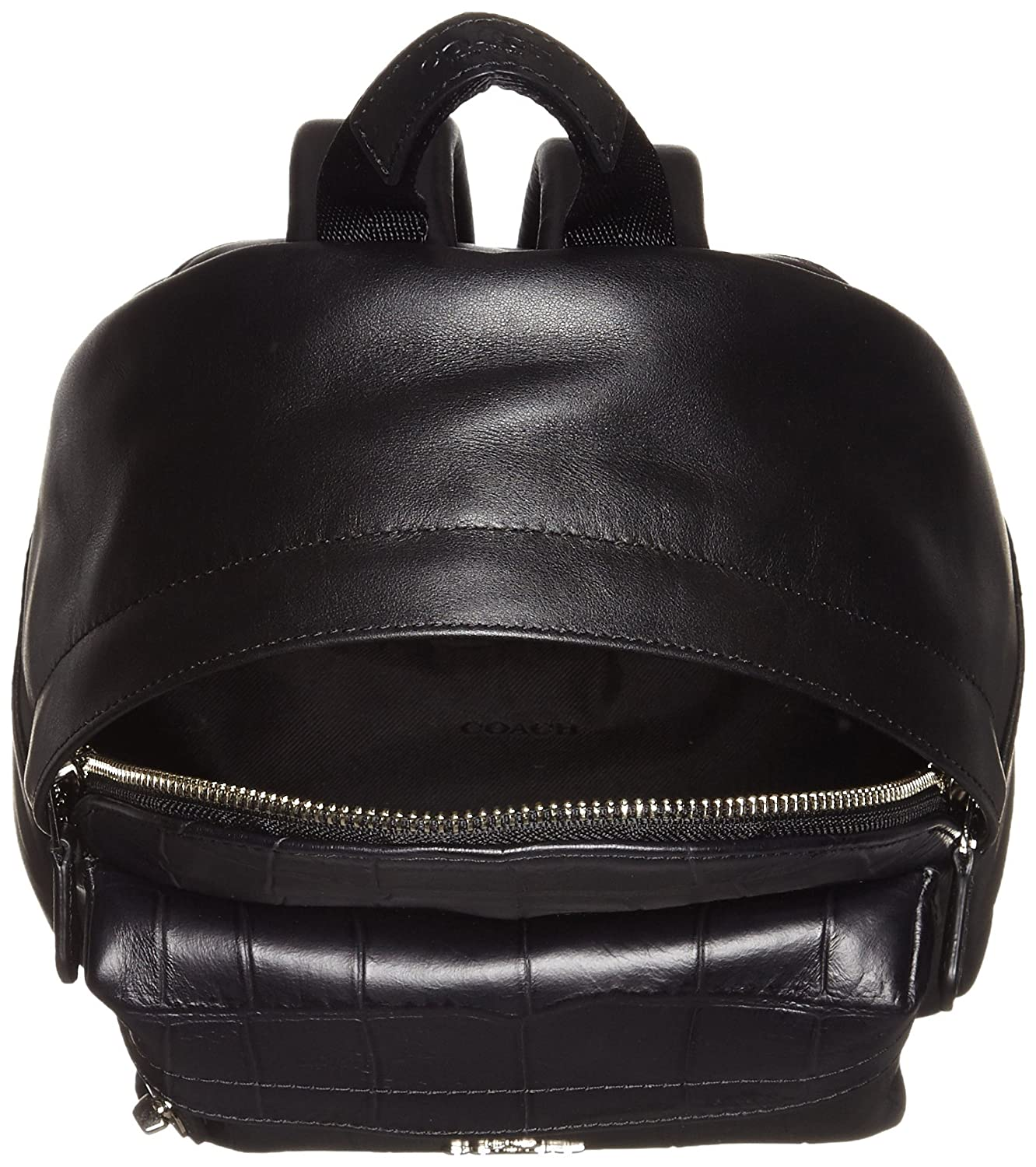 db9d224474 Amazon.com  Coach Mini Campus Backpack In Croc Embossed Leather 37713 Black  Backpack  Shoes