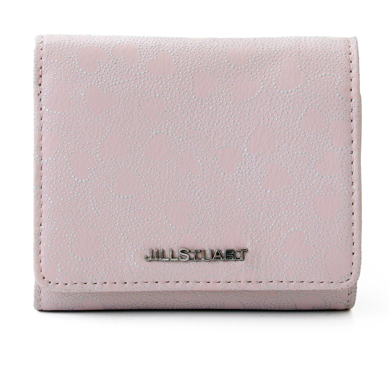 [名入れ可] [ジルスチュアート] JILL STUART レザー 三つ折り 財布 ラブリーフ チャーム ショップバッグ付き 小銭入れ ウォレット B07F81GPKP  ピンク 名入れなし
