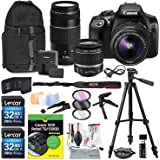 Canon EOS Rebel T6 DSLR Camera with EF-S 18-55mm f/3.5-5.6 IS II Lens, EF 75-300mm f/4-5.6 III Lens, 64GB+ T6 for Dummies and Xpix Accessories