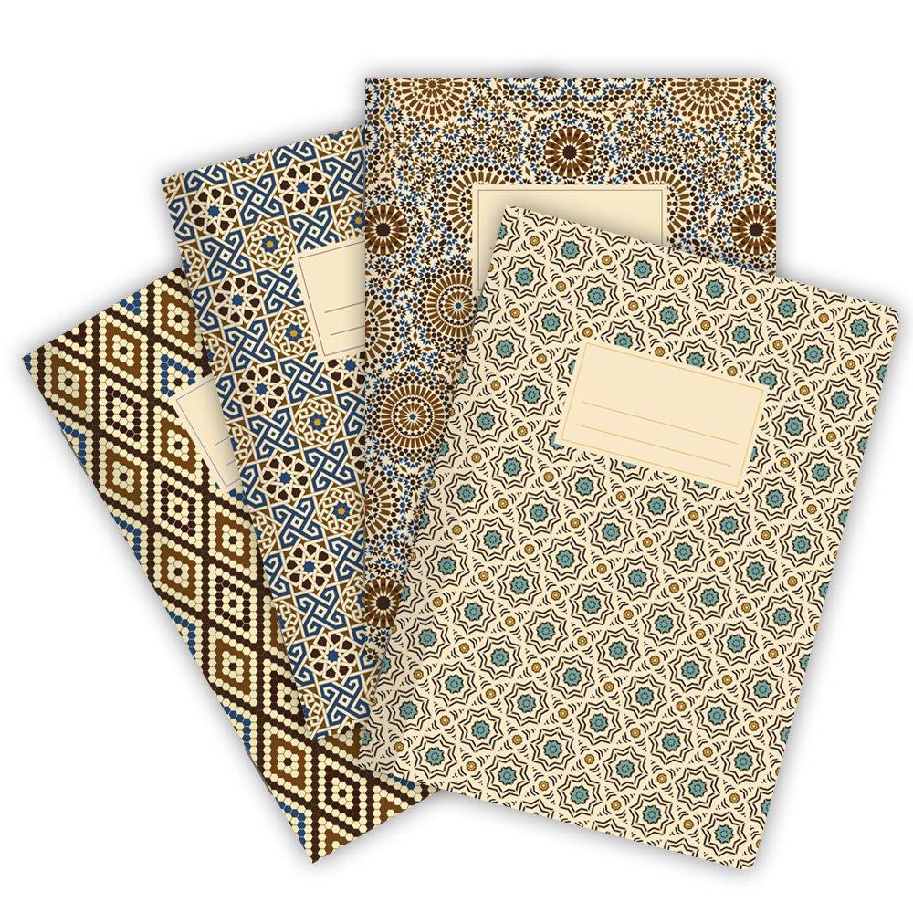 32 fogli Etmamu 530 confezione da 4 Taccuini formato A5 Marocco motivo