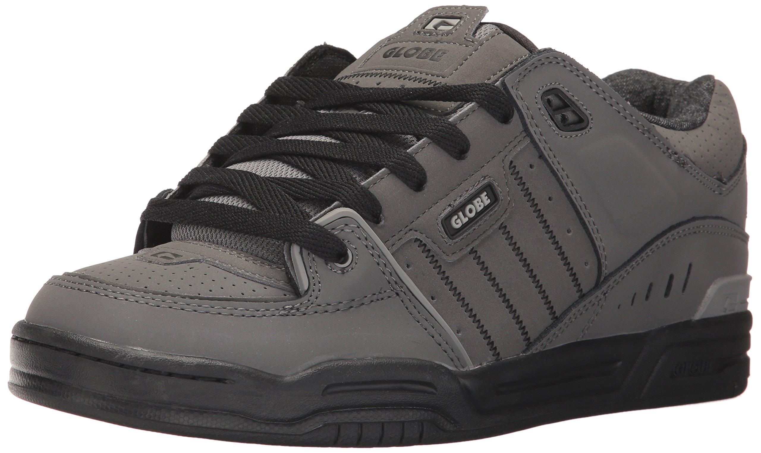 Globe Men's Fusion Skate Shoe, Charcoal/Knit, 5