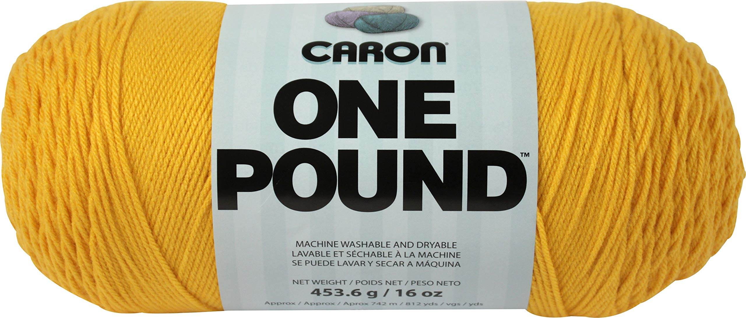 Caron 99607 One Pound Yarn-Sunflower, Multipack of 12, Pack by Caron (Image #2)