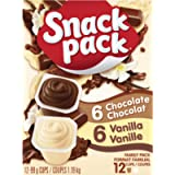 Snack Pack Chocolate and Vanilla Pudding (Pack of 1)
