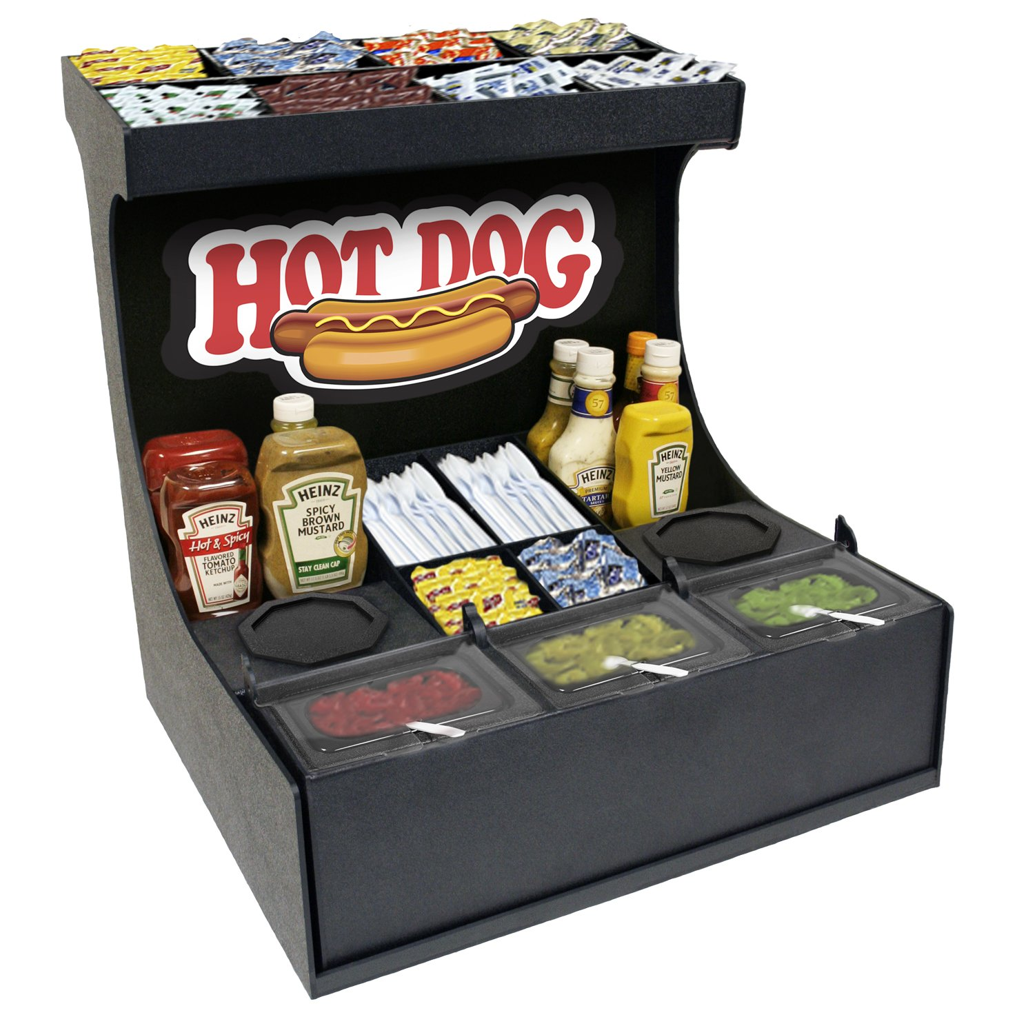 Condiment Organizer Convenience Store Professional Serving Station 21''w X 21''d X 22''h.