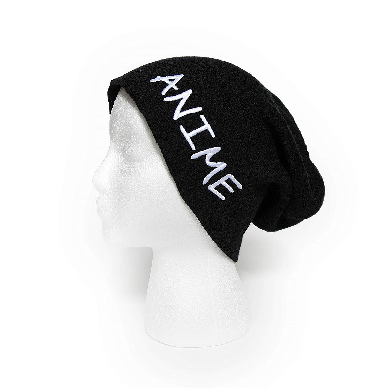 dcfdedafd15 Amazon.com  Anime Slouchy Beanie Embroidered Winter Hat Men Women Oversized  Knit Cap  Clothing